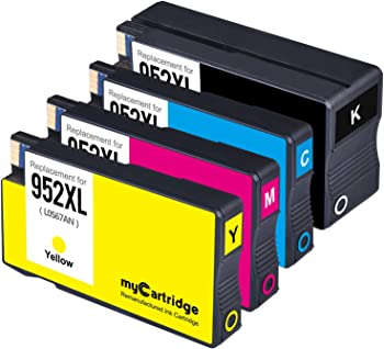 4-Pack myCartridge 952XL Remanufactured Ink Cartridge