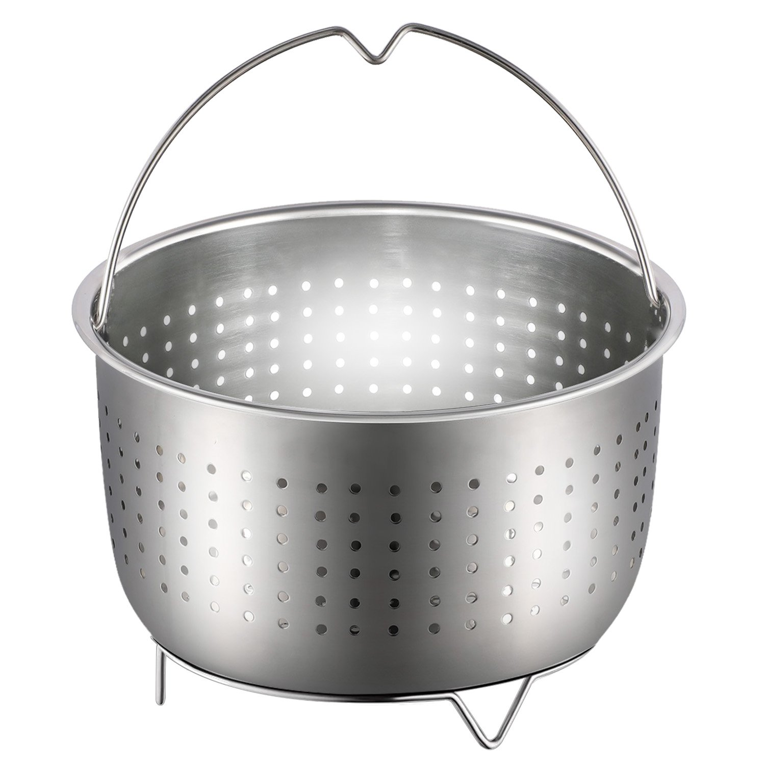 Steamer Basket, Anumit Instant Pot Accessories Stainless Steel Strainer and Insert fits 6 or 8 Quart IP Insta Pot, Instapot, Other Pressure Cookers and Pots, Great for Steaming Vegetables Fruits Eggs