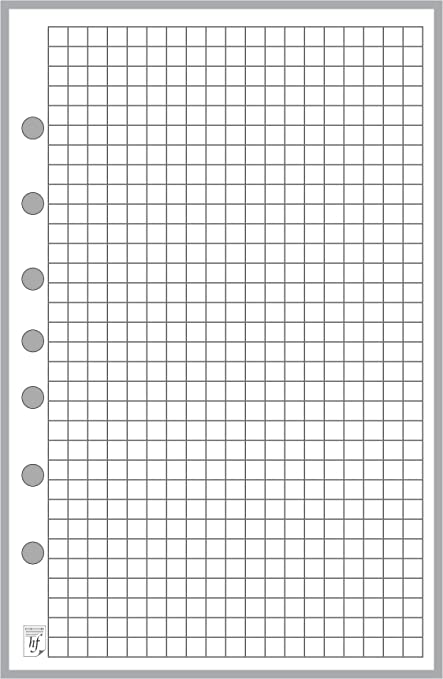 Classic Size Graph Paper Refill Sized And Punched With