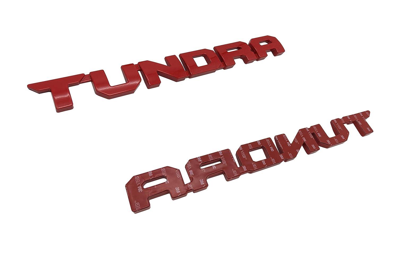 Red Tundra Door Emblem Sticker Badges For 2013-2018 SR51974 TRD PRO 2 PCS