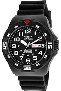 Invicta Mens Coalition Forces Quartz Stainless Steel and Silicone Casual Watch, Color: