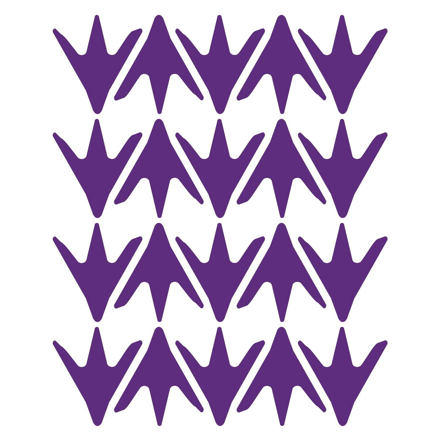 LiteMark 2 Inch Purple Removable Chicken Feet Decal Stickers for Floors and Walls - Pack of 60