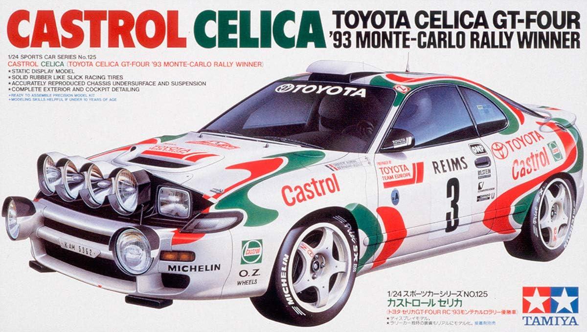 Tamiya 24125 - Maqueta Para Montar, Coche Toyota Celica Castrol WRC Año 1993 Ganador Montecarlo Escala 1/24
