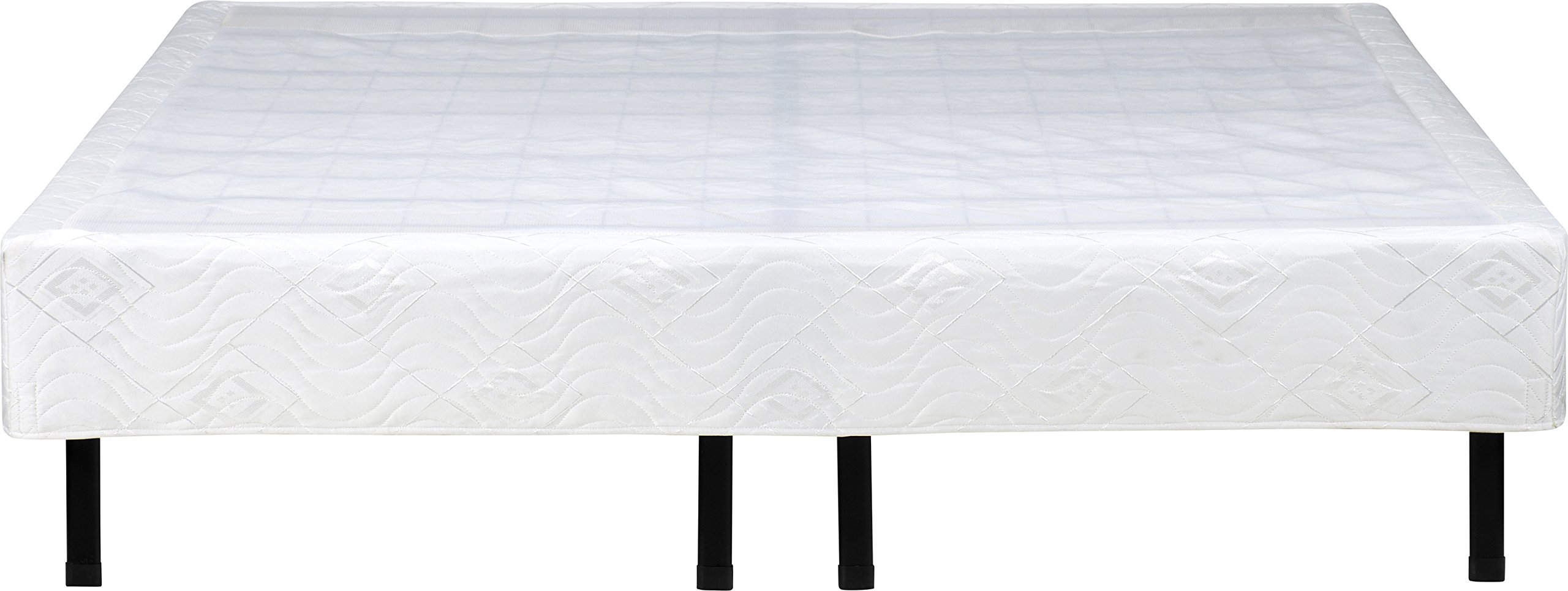 Flex Form Raised Platform Bed Frame Accessory: Bed Skirt / Base Cover, White, California King by Flex Form