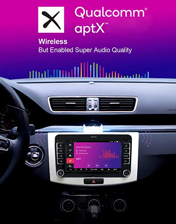 [for Volkswagen/VW] ATOTO A6 Android Car Navigation Stereo - 2X Bluetooth  w/aptX & Quick Charge/Ultra Preamplifier - Pro A6YVW721PRB Indash