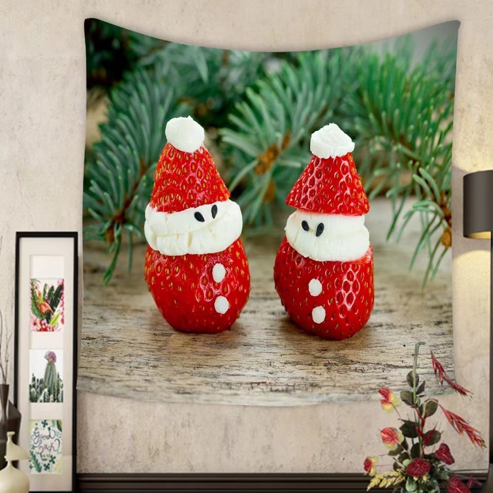 Carolyn J. Morin Custom tapestry creative ideas for edible gifts for kids christmas strawberry santas