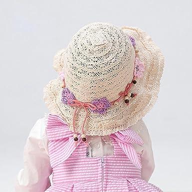 Arcweg Cappello da Sole Donna Bambina Eleganti Cappelli da Spiaggia Cotone  Bucket Hat Tesa Larga Cappello Bombetta con Sottogola 48-57cm  Amazon.it   ... 1e063921bc37