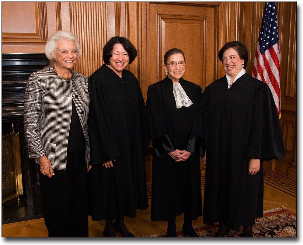 SOTOMAYOR RUTH BADER GINSBERG /& KAGAN 8X10 PHOTO JUSTICE SANDRA DAY O/'CONNOR