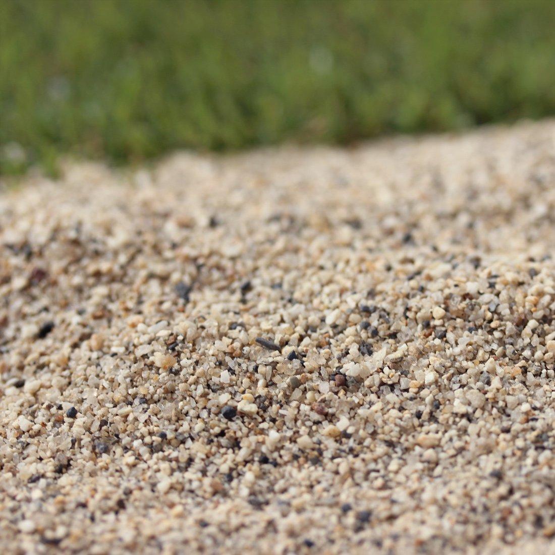 【芝生用 荒目 目砂 乾燥砂】木曽川流域産 洗い砂 (0-2mm) 600kg (20kg×30袋)【放射線量報告書付き】 B06XXXTFBW  600kg
