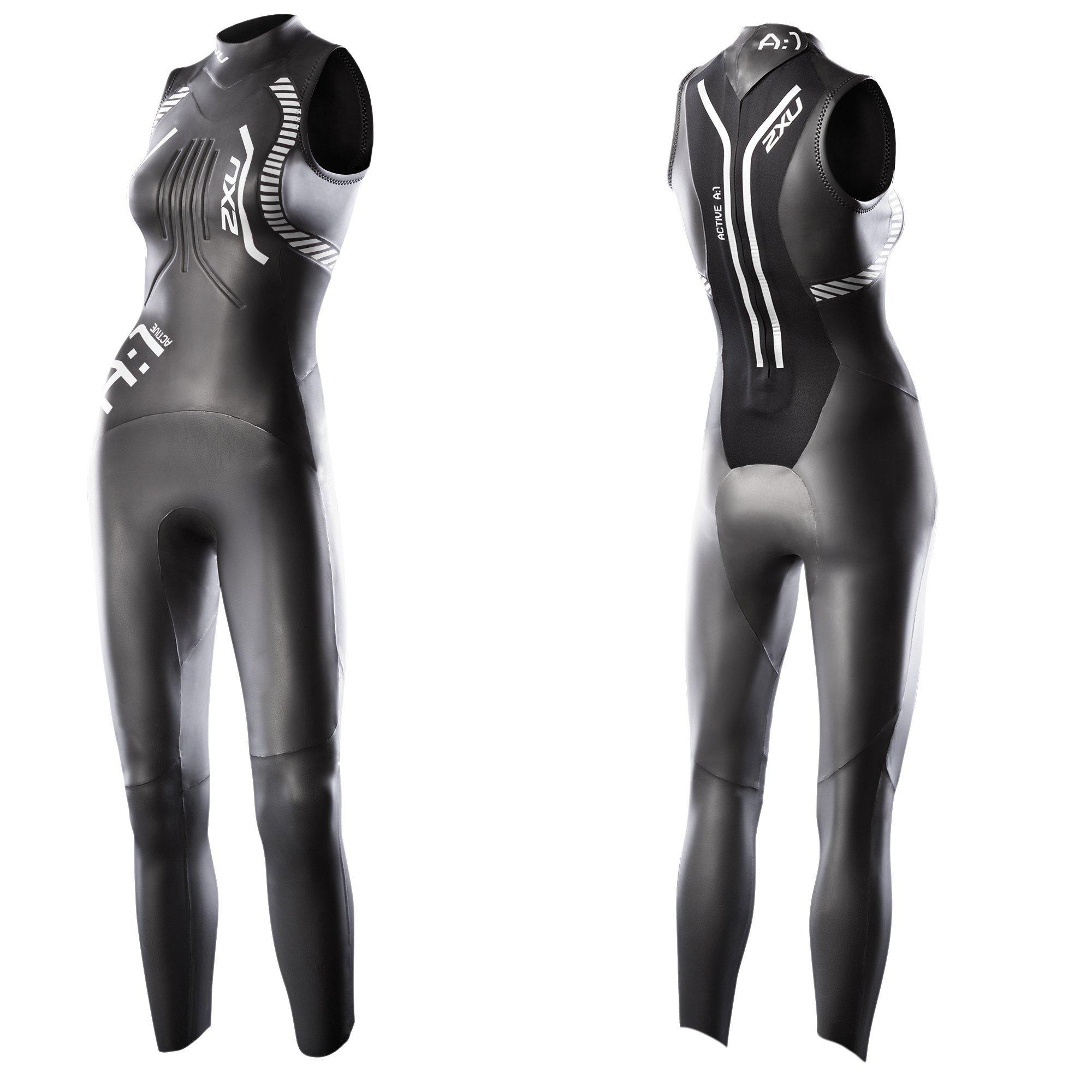 2XU Women's A:1 Active Sleeveless Wetsuit, X-Large, Black/White