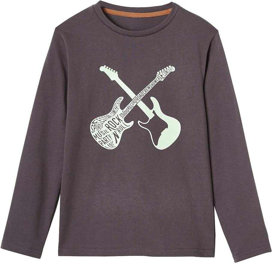 VERTBAUDET Camiseta niño con Motivo Guitarras fosforescente ...