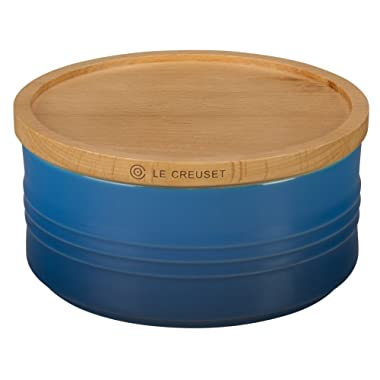 Le Creuset of America 5 1/2  Canister with Wood Lid, 23 oz, Marseille