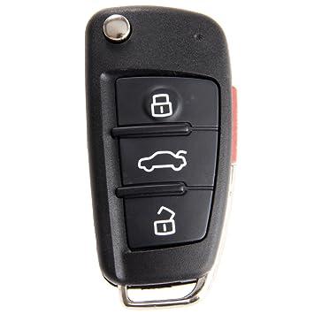 Amazon.com: aupoko 3 botones plegable remoto clave funda de ...