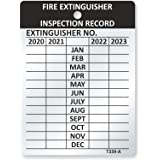 SmartSign Fire Extinguisher Tags, Inspection Tags, Record 4-Year Maintenance Tags, 3 x 2.25 Inches Heavy Duty Aluminum, Pack