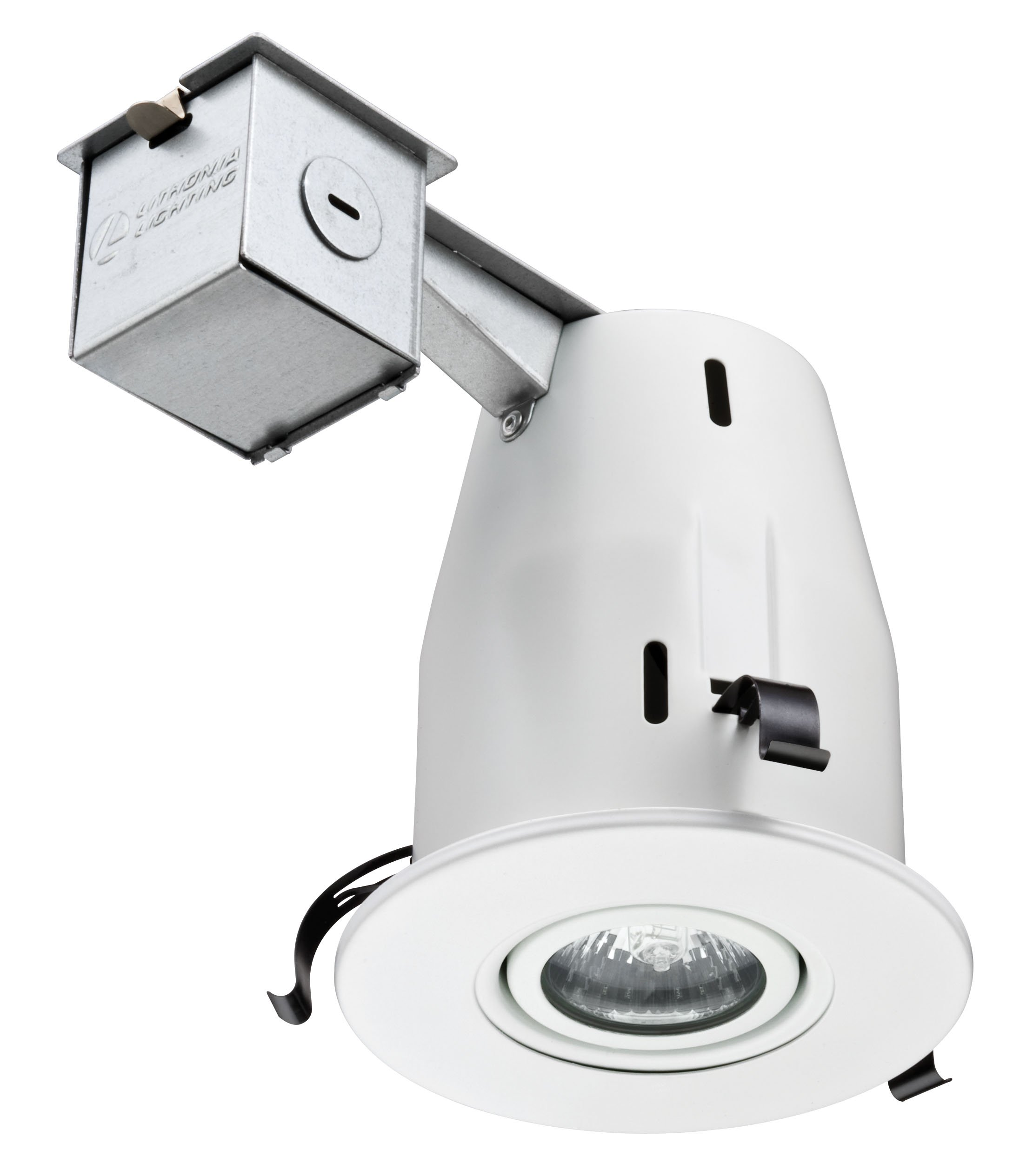 Lithonia Lighting LK4GMW M6 4 Inch Gimbal Kit with Halogen Lamp Included in White