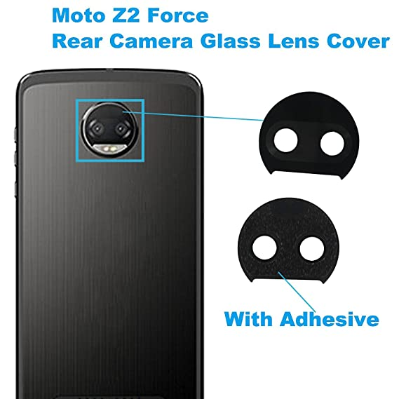 best service 31034 6e4ba Alovexiong Back Rear Camera Glass Lens Cover with Adhesive Repair  Replacement Parts for Motorola Moto Z2 Force XT1789