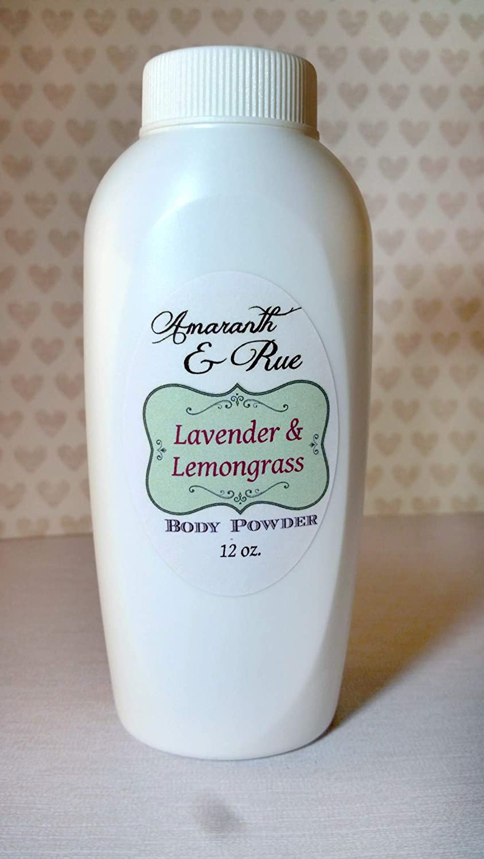 Natural Lavender Lemongrass Body Powder 12 oz Amaranth & Rue