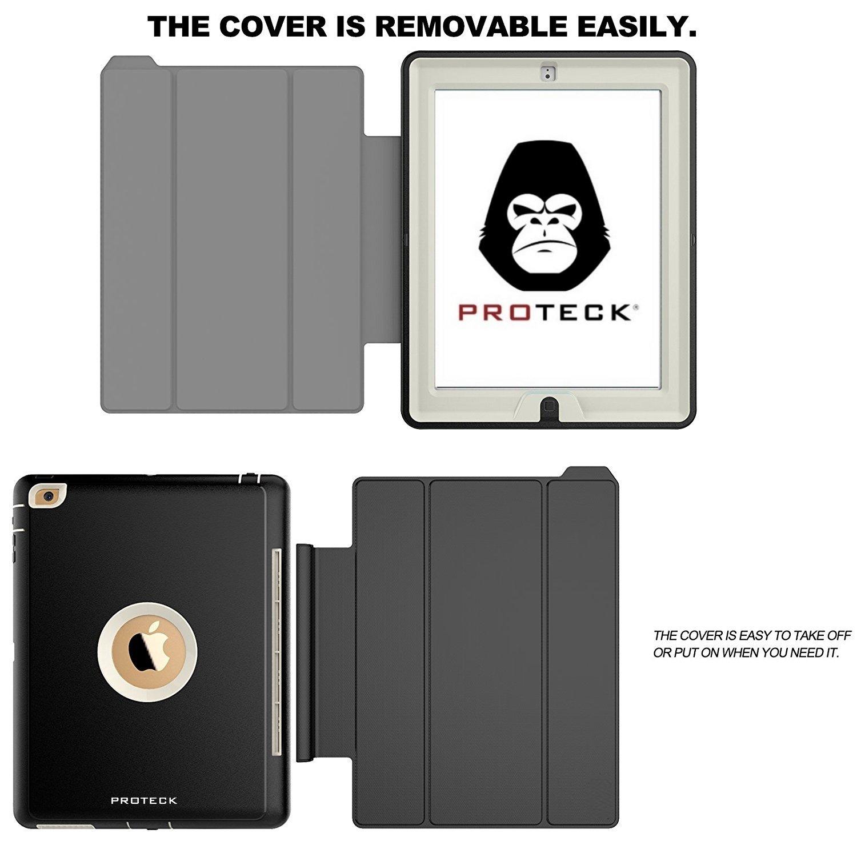 Housse Etui Smart Cover de Protection pour Tablette avec Mise en Veille Automatique et Support//Rabat de positionnement Antichoc- Triple Epaisseurs Beige PROTECK Coque iPad Pro 9.7 Silicone
