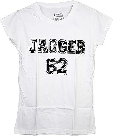 Mick Jagger 62 – Número de fútbol Camiseta Hip-Hop Blanco Blanco Talla única: Amazon.es: Ropa y accesorios