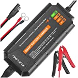 KUFUNG Trickle Charger for 12 Volt Batteries, 12V 5A Smart Automatic Battery Charger, Deep Cycle Battery Maintainer for…