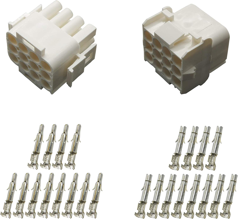 Stecker Set Steckverbinder Universal Mate N Lok 12 Polig Incl Kontakten Auto