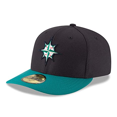 Image Unavailable. Image not available for. Color  Seattle Mariners Low  Profile Fitted Size 7 Hat Cap - Team Colors d85126074e21