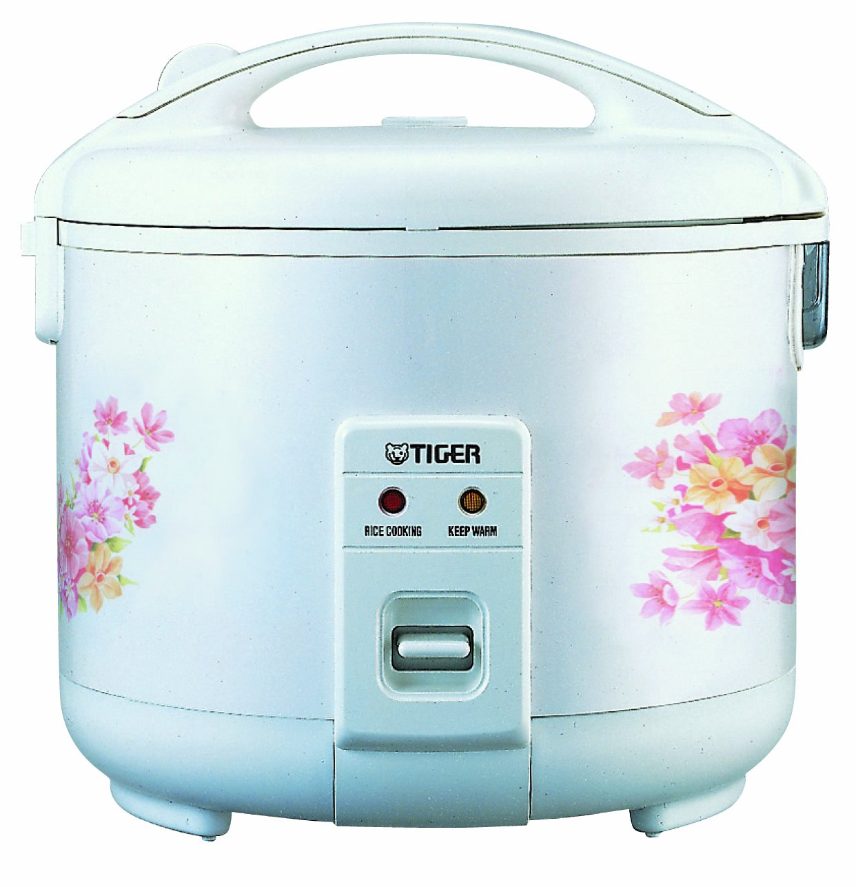 Tiger JNP-1800-FL 10-Cup (Uncooked) Rice Cooker and Warmer, Floral White by Tiger Corporation