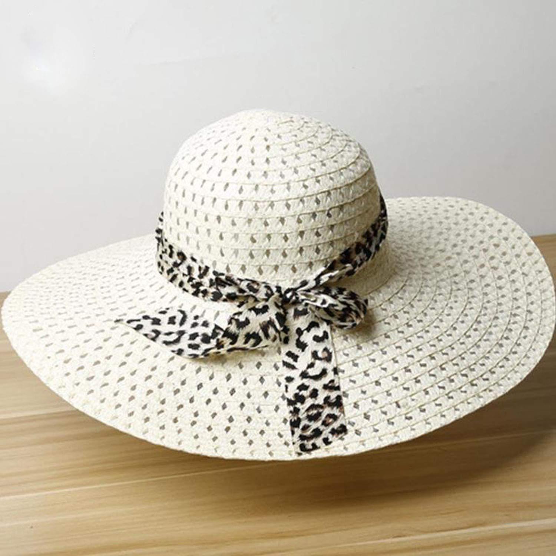 2019 New Women Summer Hat Wide Brim Straw Hat Summer Beach Hats Floppy Fold Straw Sun Hats for Women
