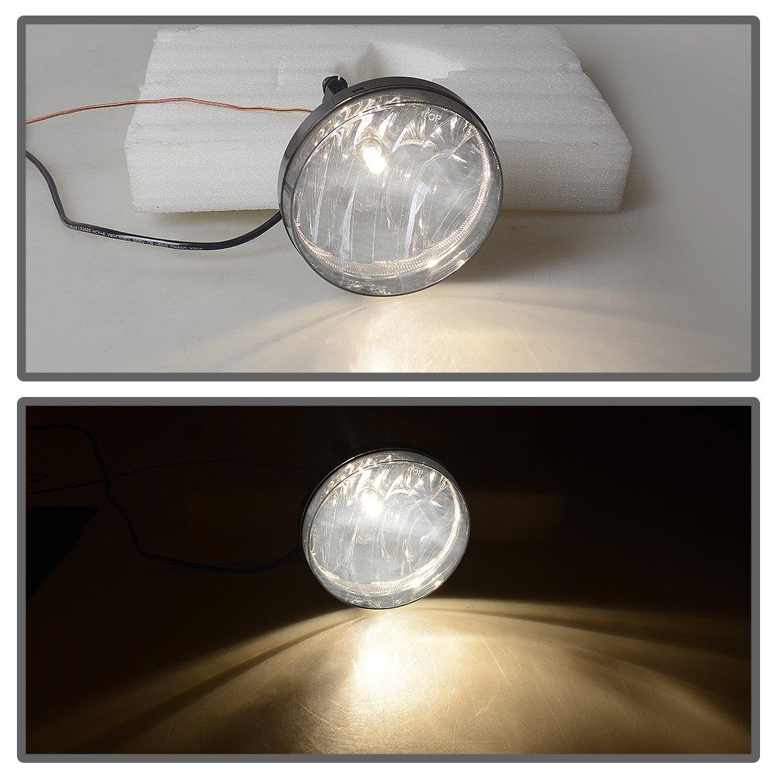 OE Style Clear lens w// 5202 PS 12V 37.5W Bulbs Fog Lights For GMC Sierra 1500 2007-2013 Sierra 2500 3500 2007-2014