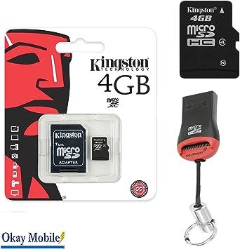 Original Kingston MicroSD Tarjeta tarjeta de memoria 4 GB Tablet ...