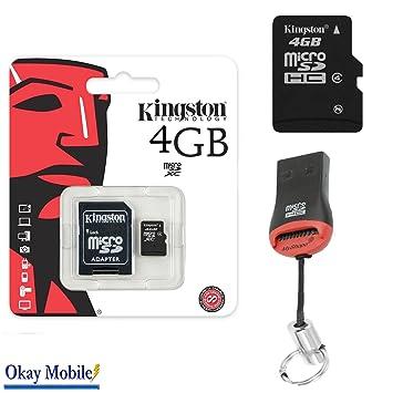 Original Kingston MicroSD Tarjeta tarjeta de memoria 4 GB ...