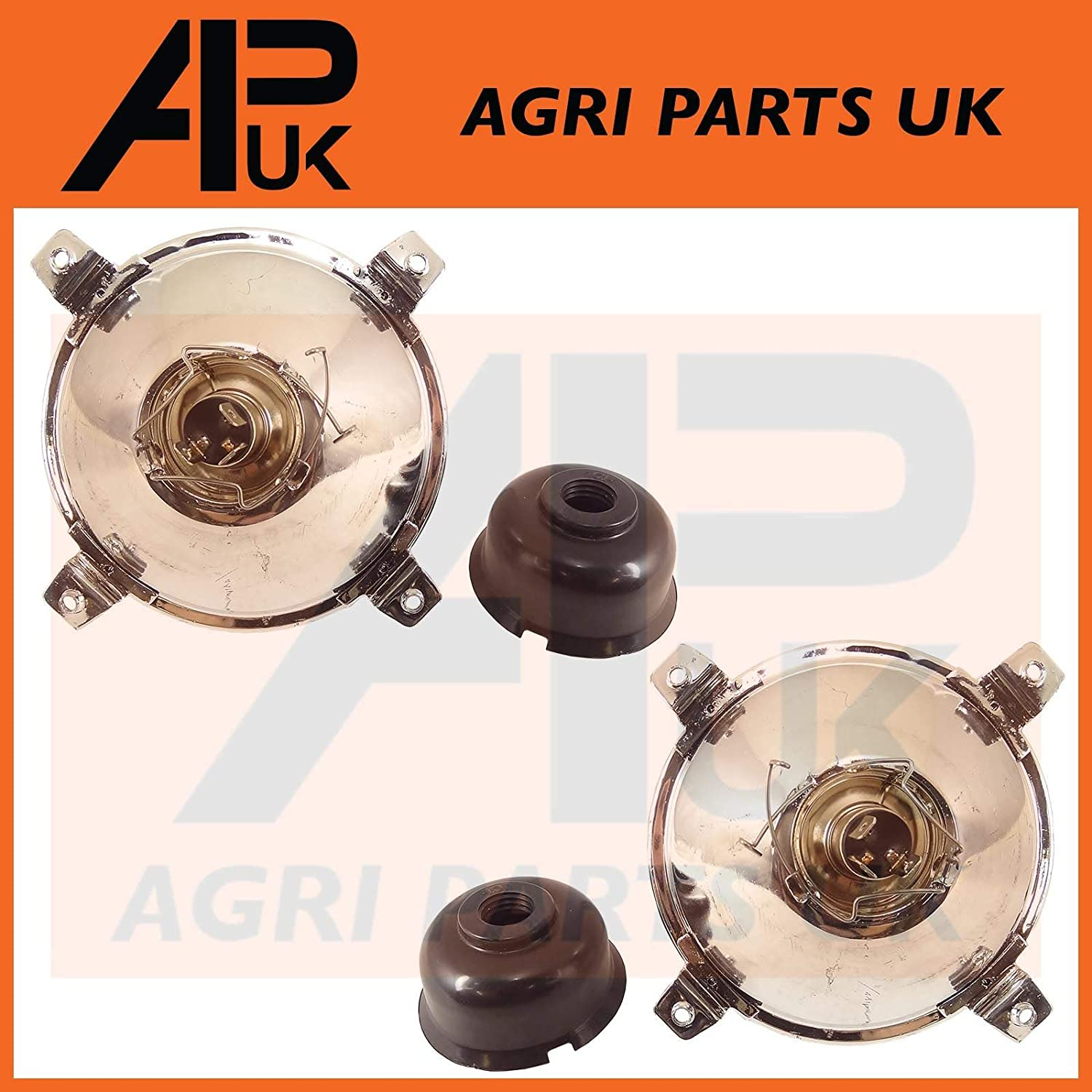 APUK PAIR of Headlight Headlamp Cowls Compatible with Ford New Holland 4610 5610 6610 7610 7810 Tractor