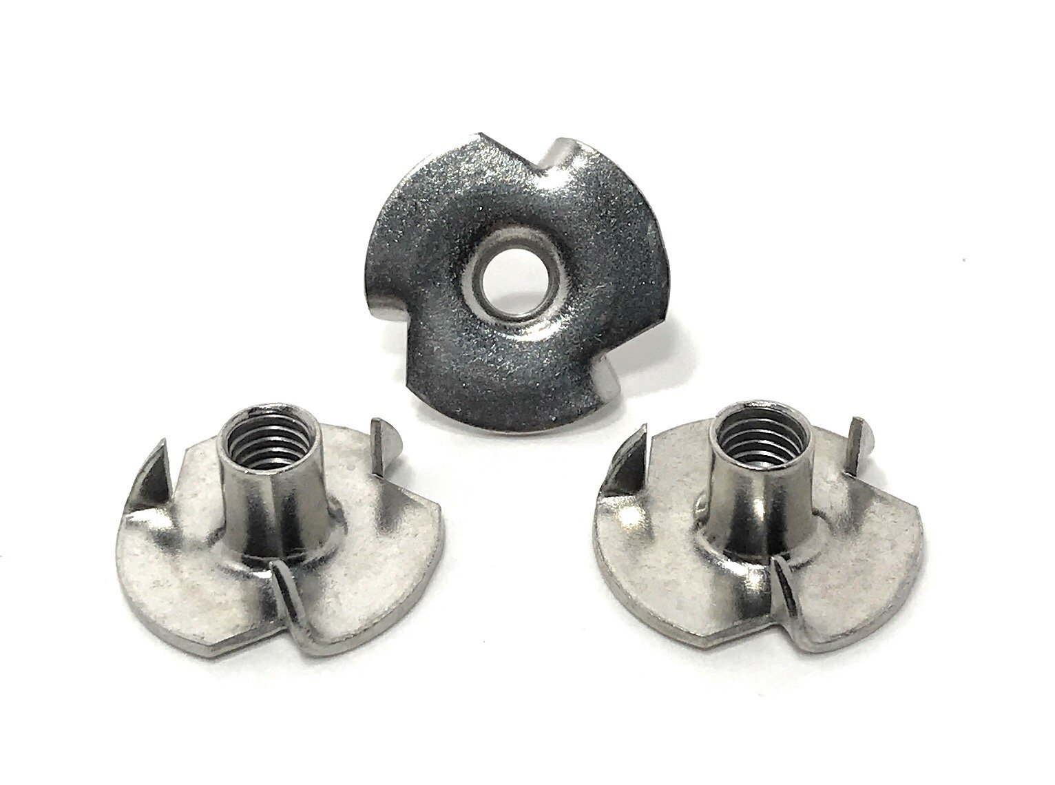 T-NUT Stainless Steel 10-32x9/32 (3 Prong) Tee Nuts (10-32 Thread 9/32 Barrel Length) 18-8 Stainless - (25) Pieces by Fastener Assembly Solutions