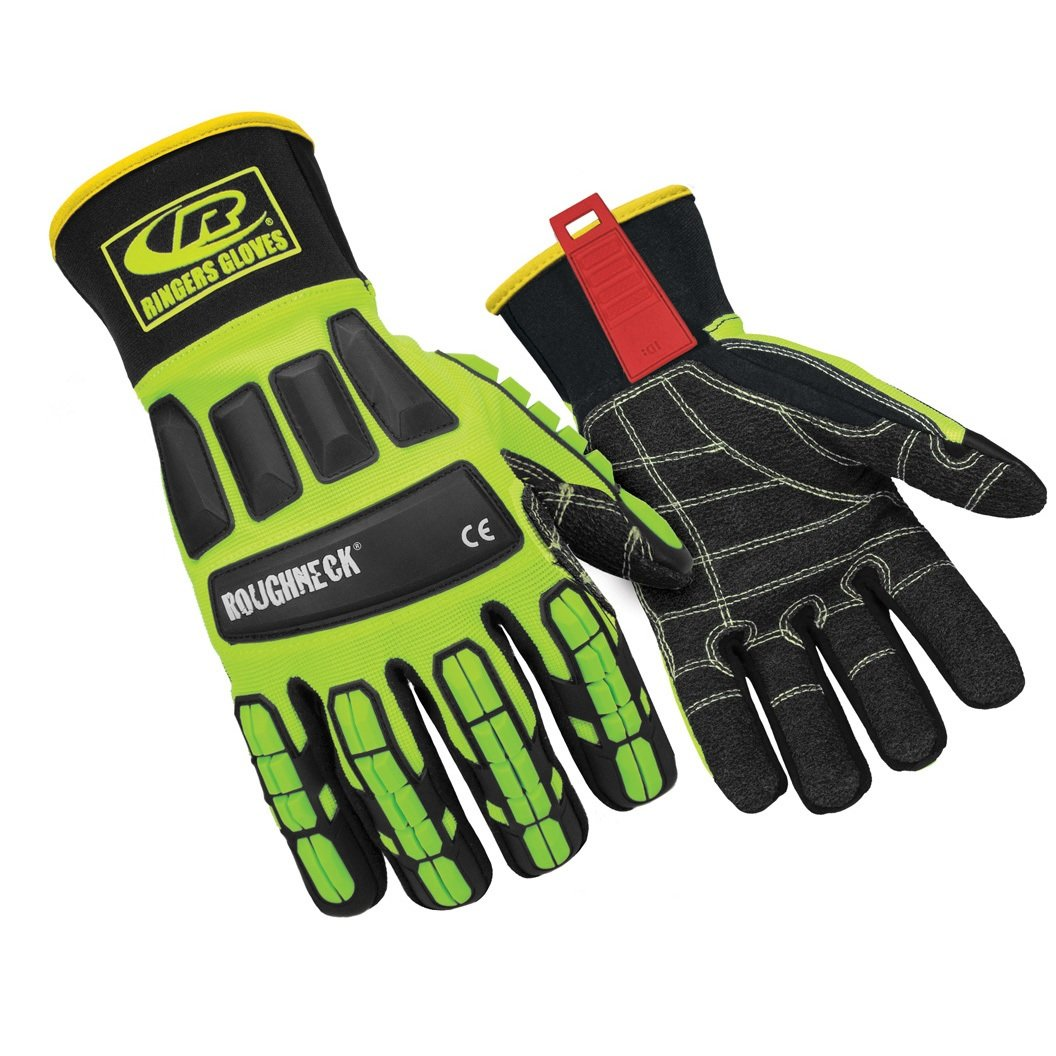 Ringers Gloves R-297 Roughneck KevLoc Heavy Duty Work Gloves, Impact Gloves, X-Large