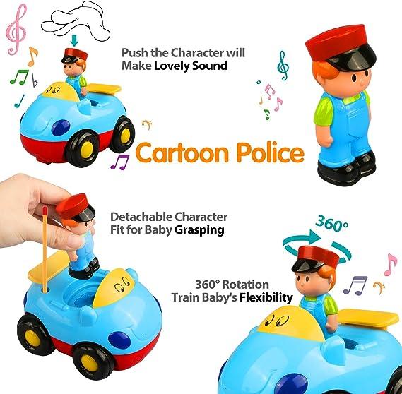 RC Voiture de Course de Contr/ôle RC Camion de Jouet Cartoon pour Les B/éb/és et Les Enfants Blue Joylink Voiture Radiocommand/é