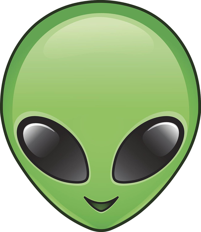 Amazon Com Divine Designs Green Cartoon Alien Head Icon Vinyl Decal Sticker 12 Tall Automotive