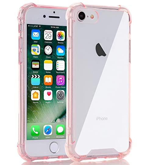 on sale b459a b40eb Egotude India Shock Proof Hard Soft Silicone Bumper Back Cover for iPhone  7/8 (Rose Gold)