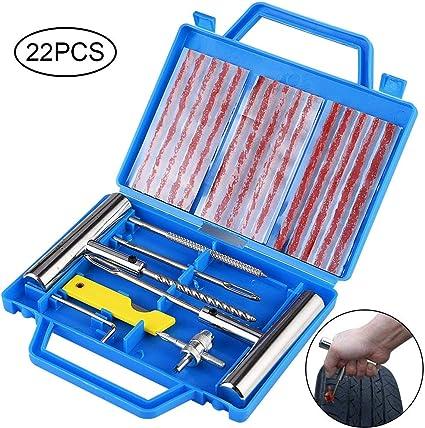Fabur Kit de Reparación de Neumáticos, Kit Repara Pinchazos ...