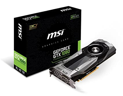 31047b520fa65b Amazon.com  MSI GeForce GTX 1080 Founders Edition (GTX 1080 Founders ...