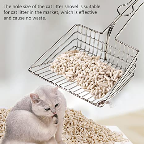 Sue Supply - Arenero para Gatos y Gatos, de Acero Inoxidable, Resistente, con