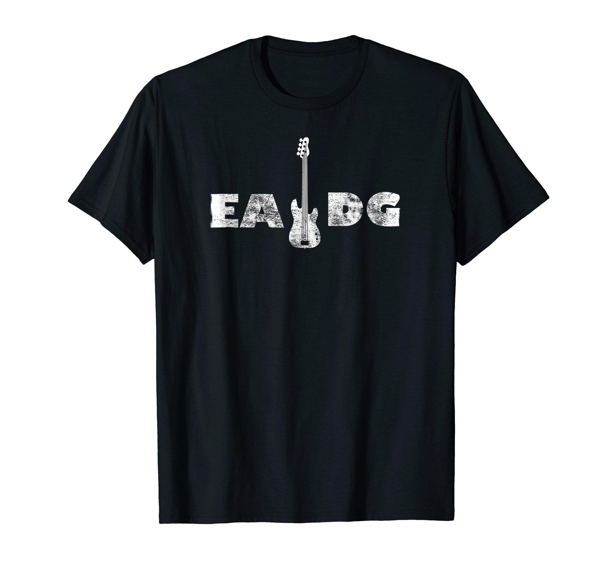 Cool Electric Bass EADG Guitar Rock Music Player Gift Tee by Electric Bass Guitar Music Tee Shirt Gift