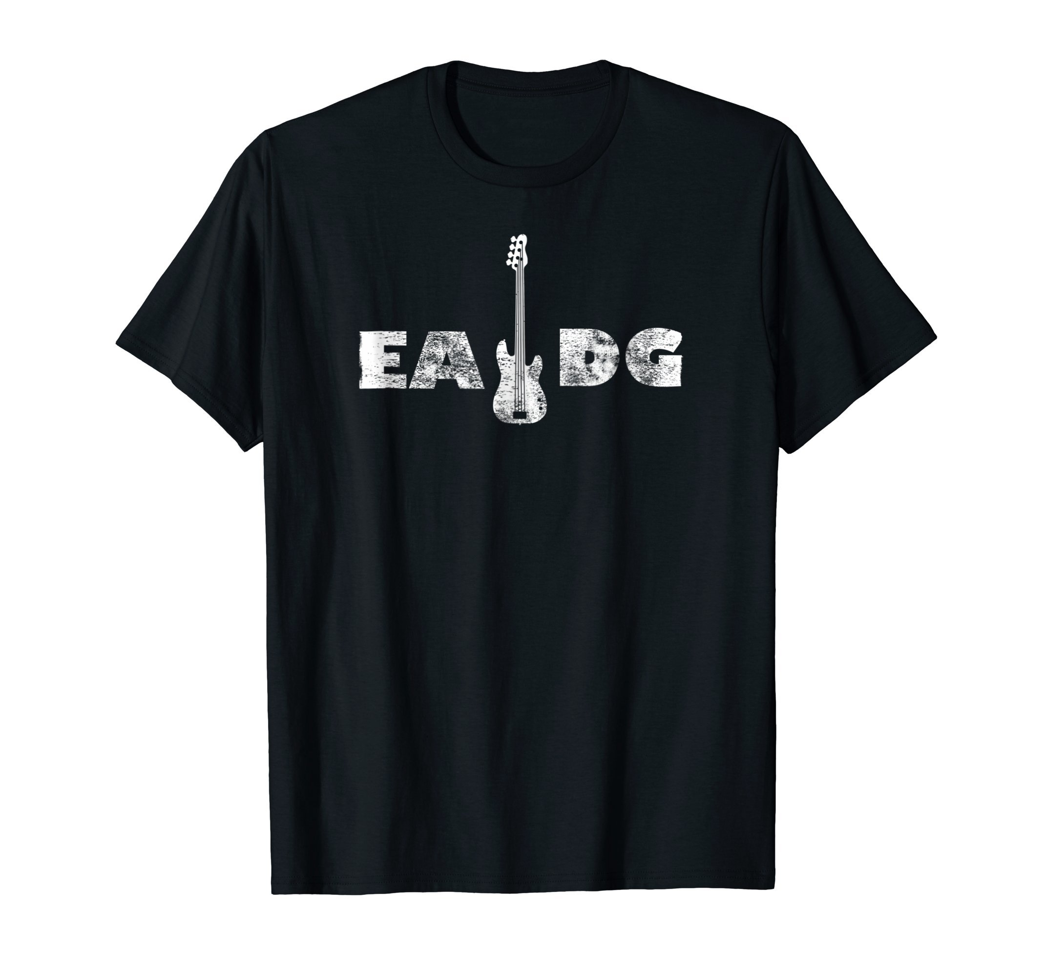 Cool Electric Bass EADG Guitar Rock Music Player Gift Tee