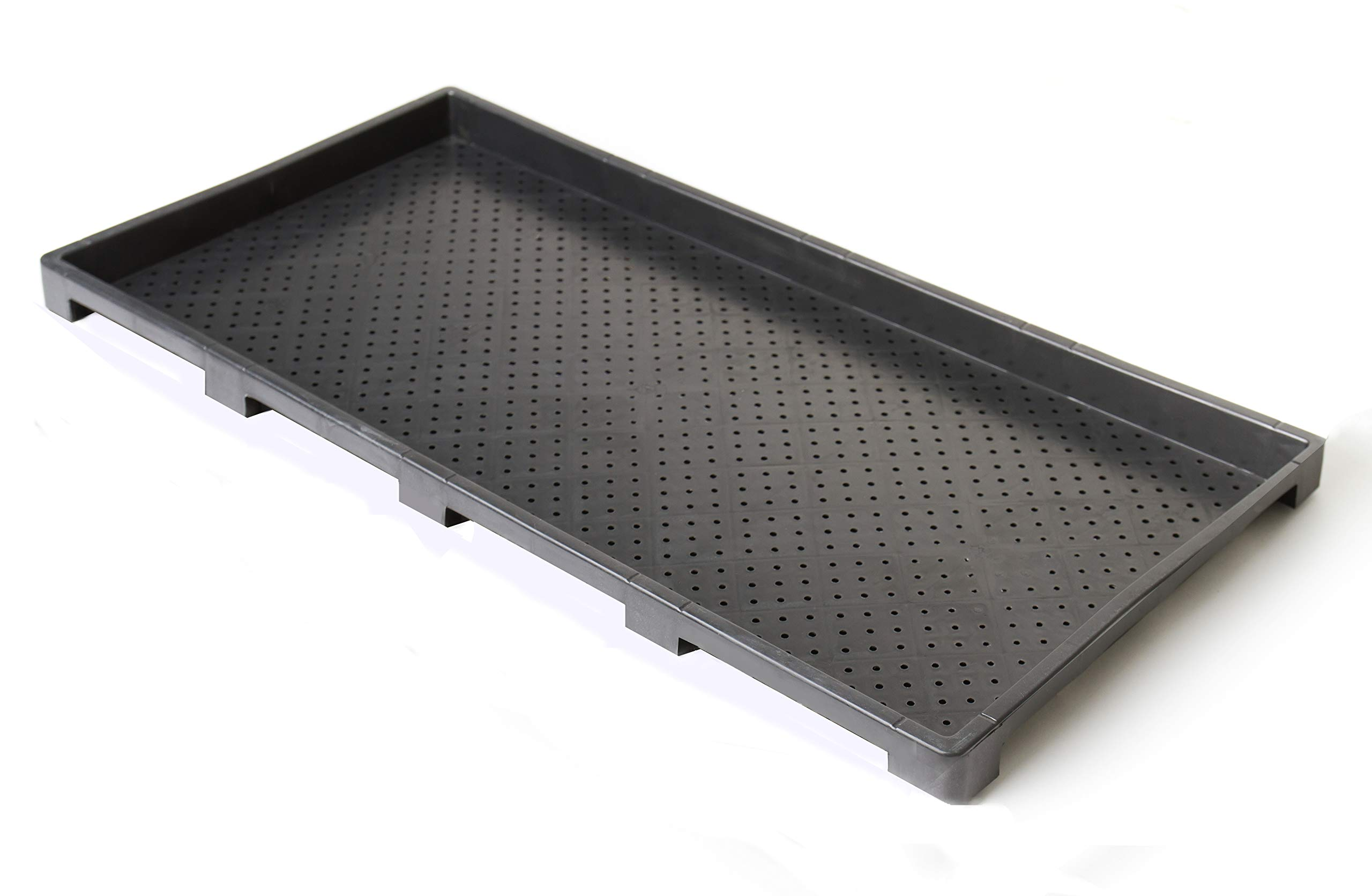 Extra Strength Microgreens Seedling Trays, Seed Starter Growing Kit WITH Holes for Organic Barley, Wheat Grass, Fodder, Planting, Seeds, Propagation System | NEW TRAY DESIGN