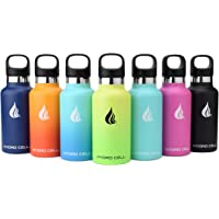 HYDRO CELL Stainless Steel Water Bottle with Straw & Standard Mouth Lids - Keeps Liquids Perfectly Hot or Cold with Double Wall Vacuum Insulated Sweat Proof Sport Design