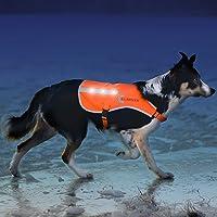 Nrpfell Chaleco para Perros Chaleco de Caza Chaleco de Patrulla Resistente Al Agua para Perros Equipo de Entrenamiento Pitbull Abrigo para Perros con 3 Bolsas Desmontables M