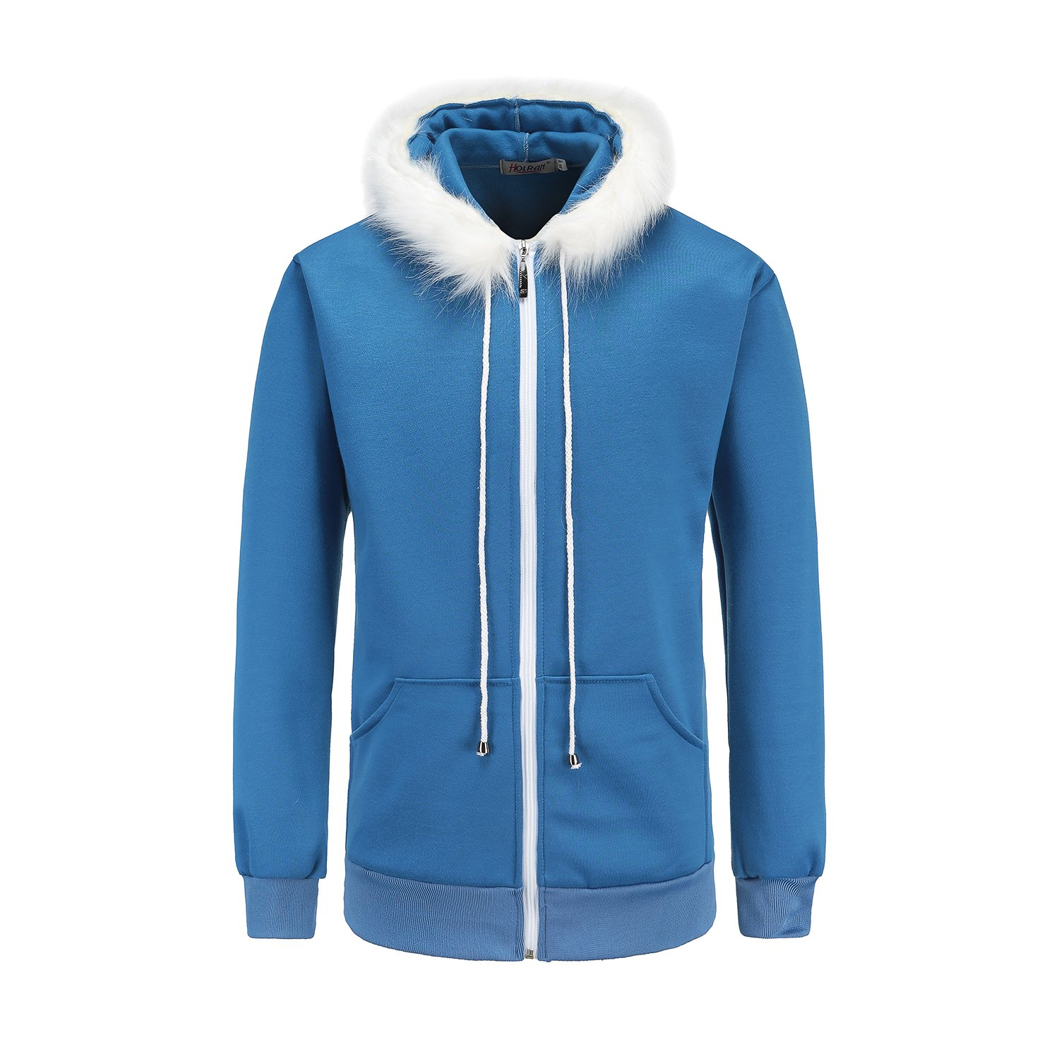 NSOKing Men's Casual Cool Blue Cosplay Daily Use Hoodie (XX-Large, Blue)