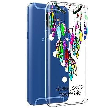 Funda Samsung Galaxy A6 2018, Eouine Cárcasa Silicona 3D Transparente con Dibujos Diseño Suave Gel TPU [Antigolpes] de Protector Bumper Case Cover ...
