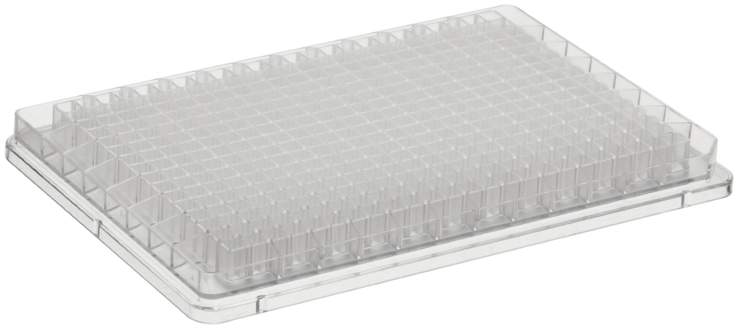 BrandTech 781620 Polystyrene F-Bottom 384 Well Brandplates Microplate, Non-Treated, 100 microliter Well Capacity, Transparent (Pack of 50)