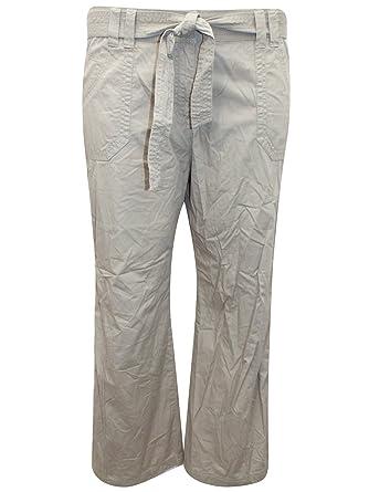 0c56cbed Ladies Ex M&S Belted Straight Leg Cargo Pants Trousers (20 Medium,  Sandstone)