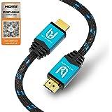 Ultra HDTV 4K HDMI Kabel, Premium Zertifiziert, 2 Meter/HDMI 2.0b, UHD bei vollen 60Hz (Keine Ruckler) / HDR10+, 3D, ARC, Ethernet, Dolby Vision